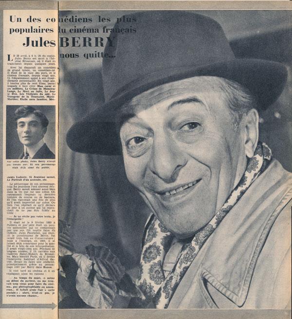 Jules Berry est mort il y a soixante ans