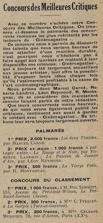 Cinémagazine du 31 mai 1929
