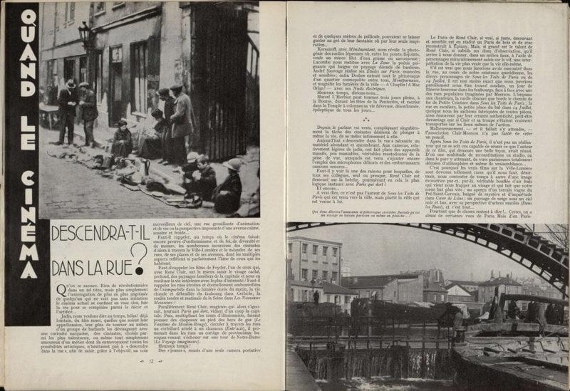 Cinémagazine de Novembre 1933